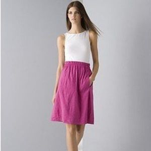 Theory Elidy White Sleeveless Top and Pink Skirt 2